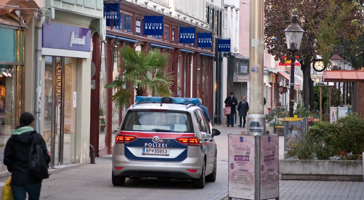 Polizeistreife Wiener Straße / Foto: wn24