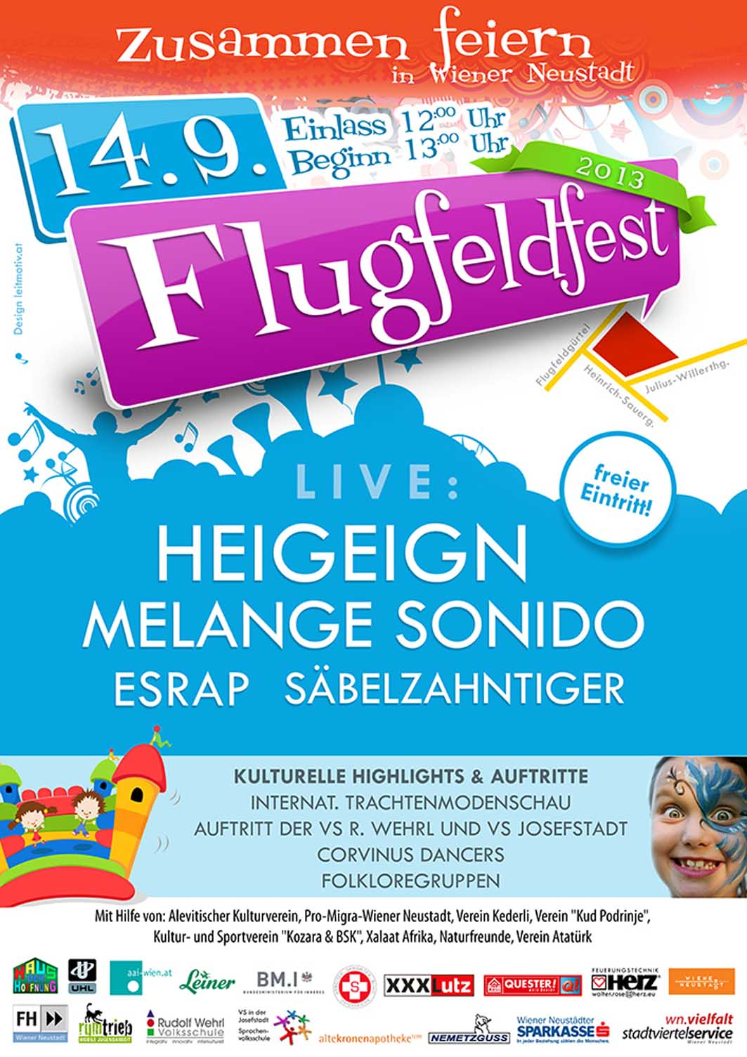 Foto: Poster Flugfeldfest 2013
