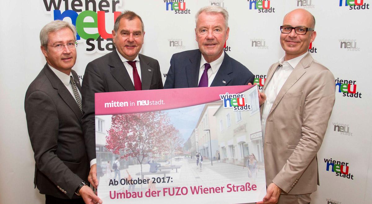 Präsentation Wiener-Strasse / Foto: Wiener Neustadt/Weller,