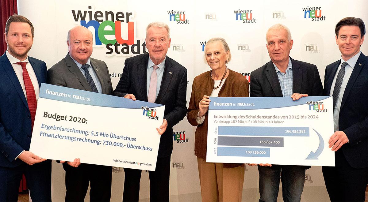 Präsentation Budget 2020 / Foto: Stadt Wiener Neustadt/Weller