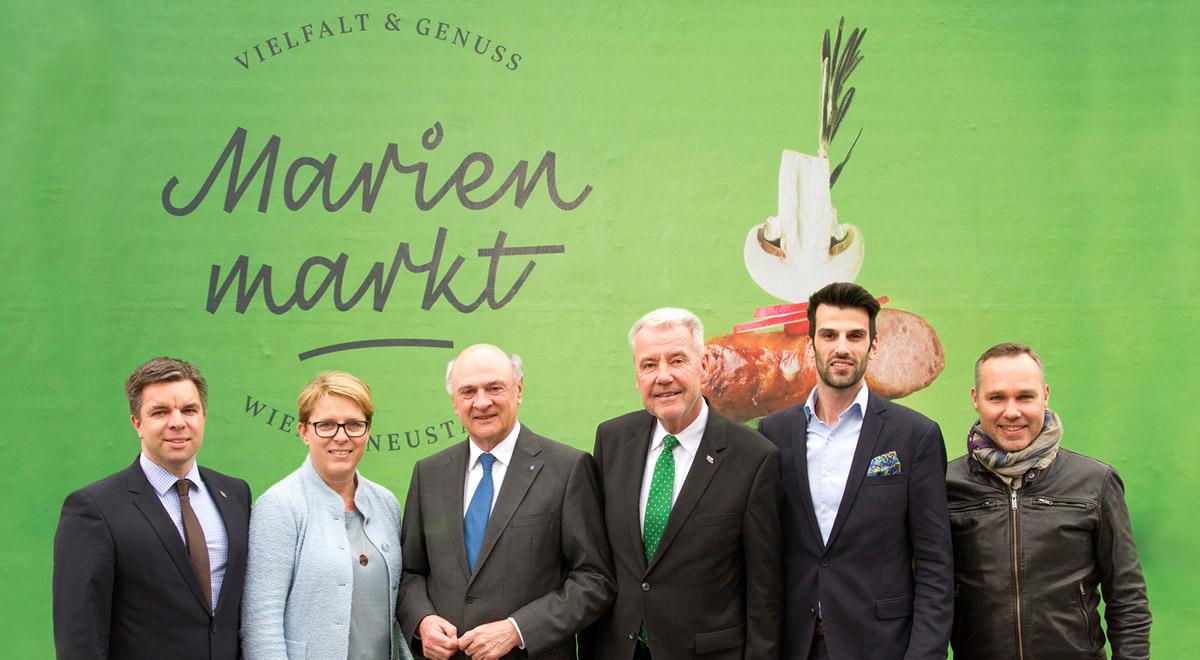 LH Pröll Marienmarkt / Foto: Wiener Neustadt/Weller