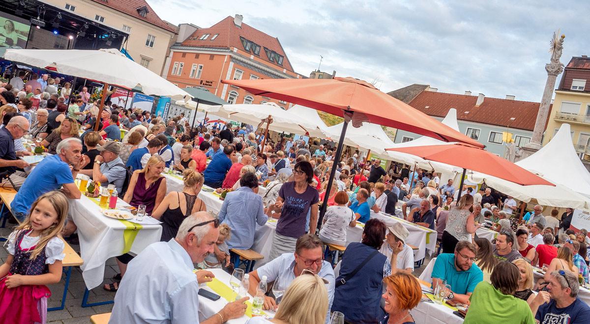Publikum beim Schnidahahn Herbstauftakt 2019 / Foto: Stadt Wiener Neustadt/Pürer