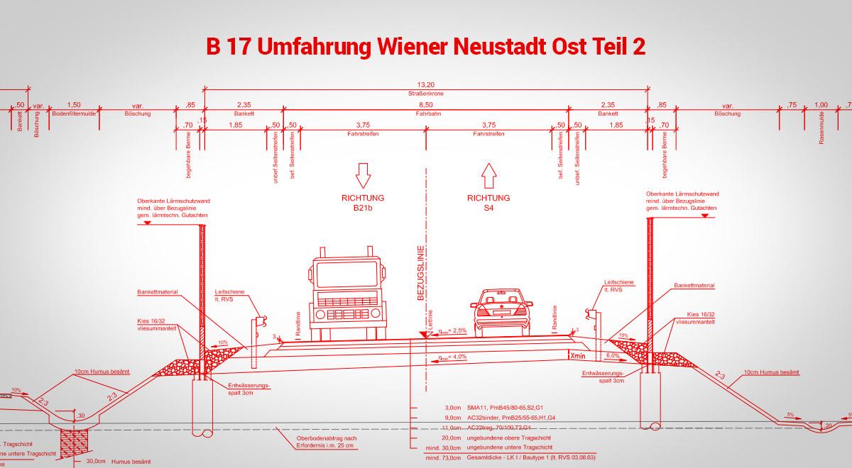 Querschnitt-Ostumfahrung-Wiener-Neustadt / Foto: Land NÖ