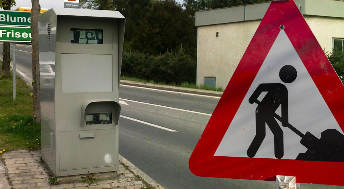 Radarbox und Baustellen / Foto: لαçkτδ (CC BY-SA 3.0) & pixabay