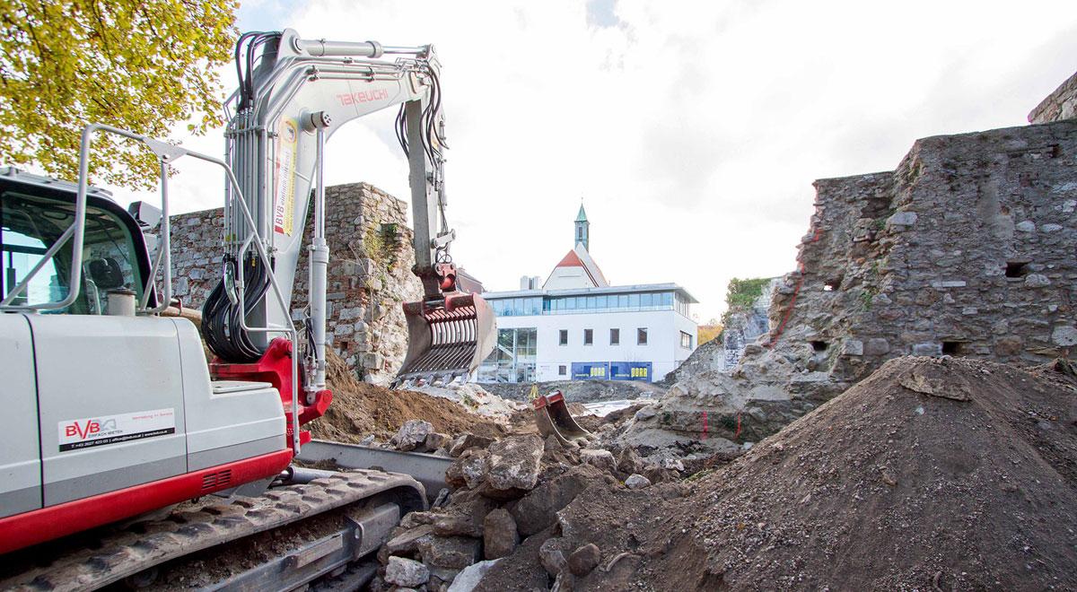 Sanierung Stadtmauer / Foto: Wiener Neustadt/Weller