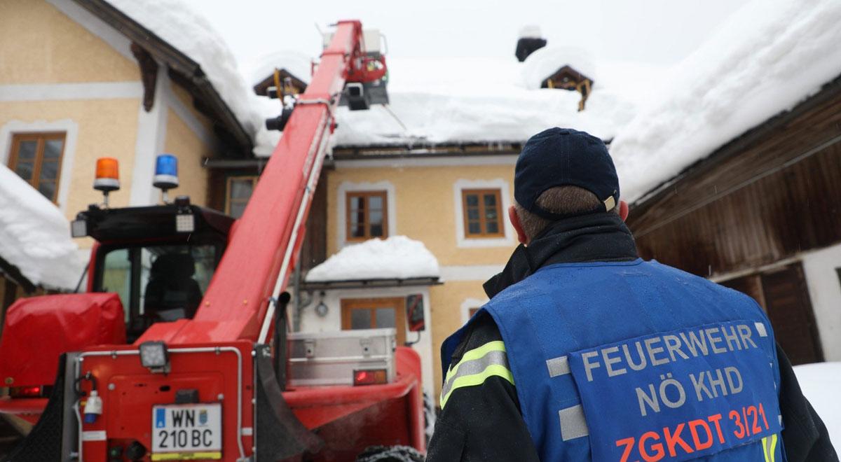 Schnee-Einsatz in Kleinzell / Foto: Presseteam d. FF Wr. Neustadt