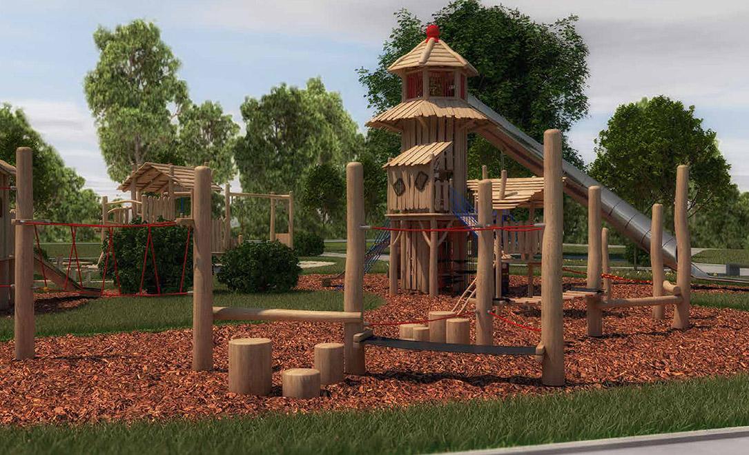 Visualisierung Spielplatz / Foto: Agropac
