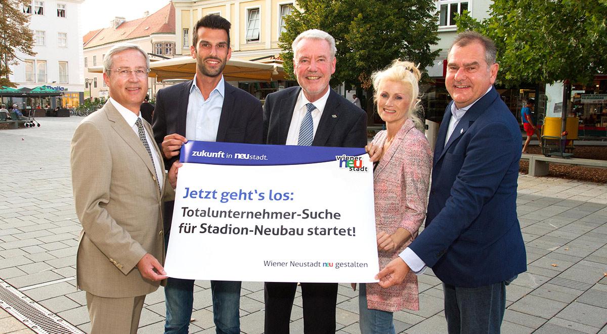 Stadion-Neubau Totalunternehmer-Suche / Foto: Wiener Neustadt/Weller