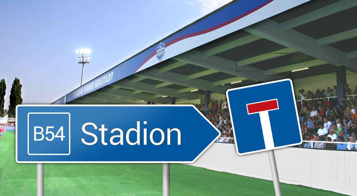Stadion an der B54 / Foto: Steindy (CC BY-SA 2.0) via Wikimedia Commons / Grafik: WN24