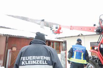 Teleskoplader bei Schneeräumung / Foto: Presseteam d. FF Wr. Neustadt
