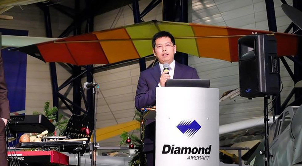 Diamond Aircraft Industries, Mr. Bin Chen / Foto: Diamond Aircraft