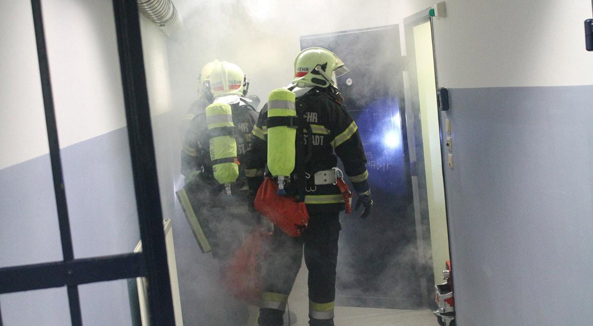 Übung im Polizeianhaltezentrum / Foto: Presseteam d. FF Wr. Neustadt