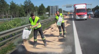 Schadstoffeinsatz nach Unfall / Foto: Presseteam d. FF Wr. Neustadt