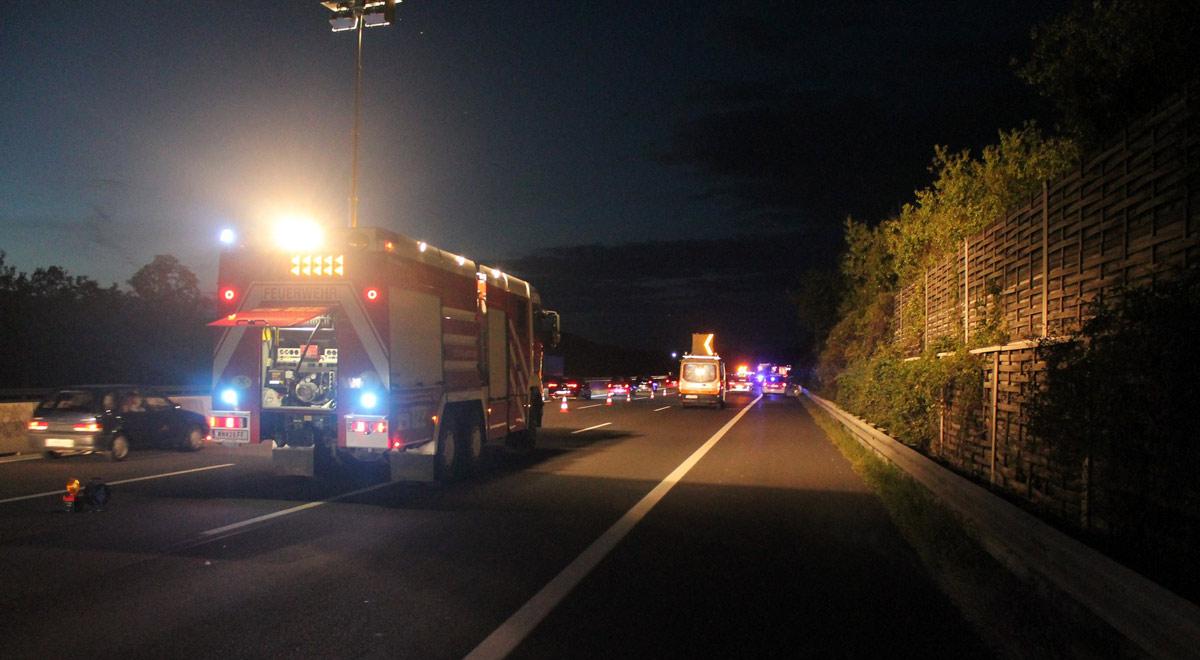 Unfallstelle A2 / Foto: Presseteam Feuerwehr Wiener Neustadt