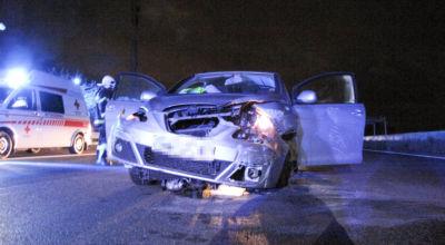 Verkehrsunfall auf der A2 / Foto: Presseteam d. FF Wr. Neustadt
