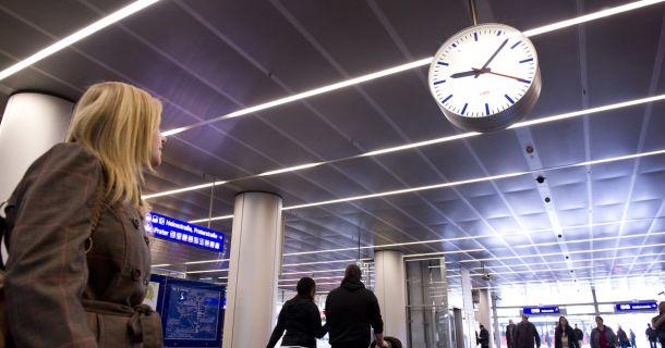 Foto: Verspätung im Zugverkehr