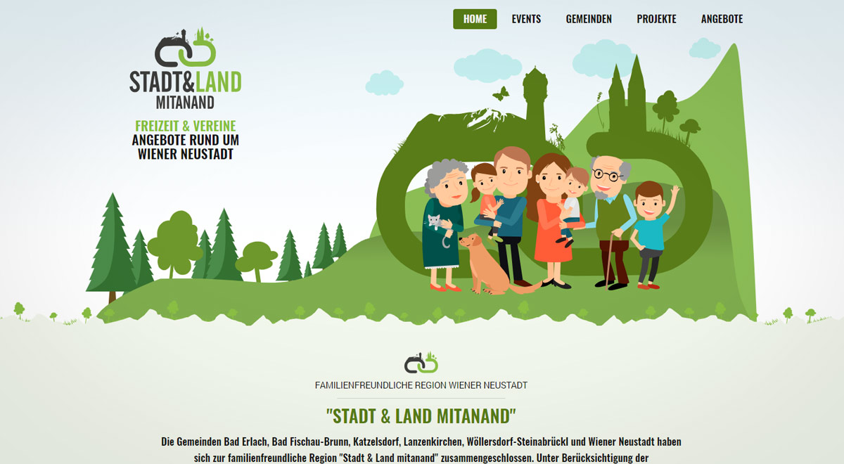 Website familie-mitanand.at / Foto: Screenshot