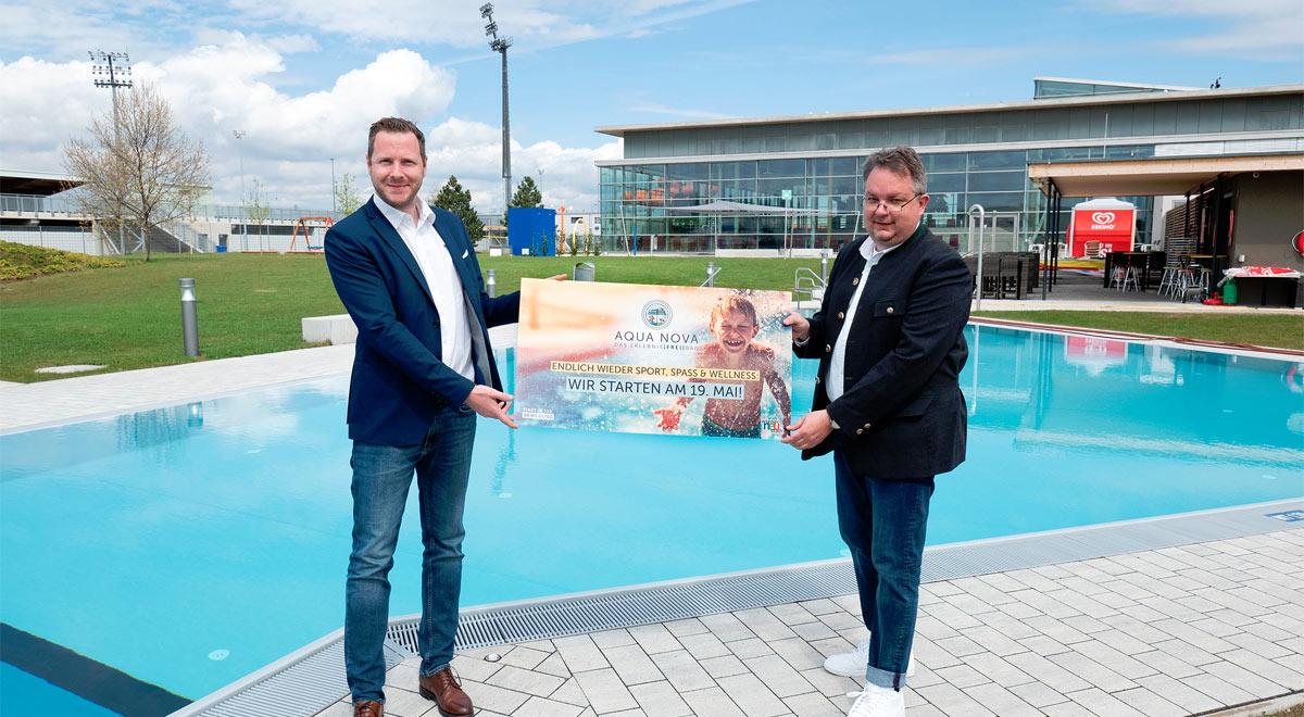 "Wieder-Eröffnung der ""Aqua Nova"" am 19. Mai. / Foto: Stadt Wiener Neustadt/Weller"