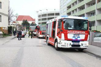 Balkonbrand in Spitalsgasse / Foto: Presseteam d. FF Wr. Neustadt