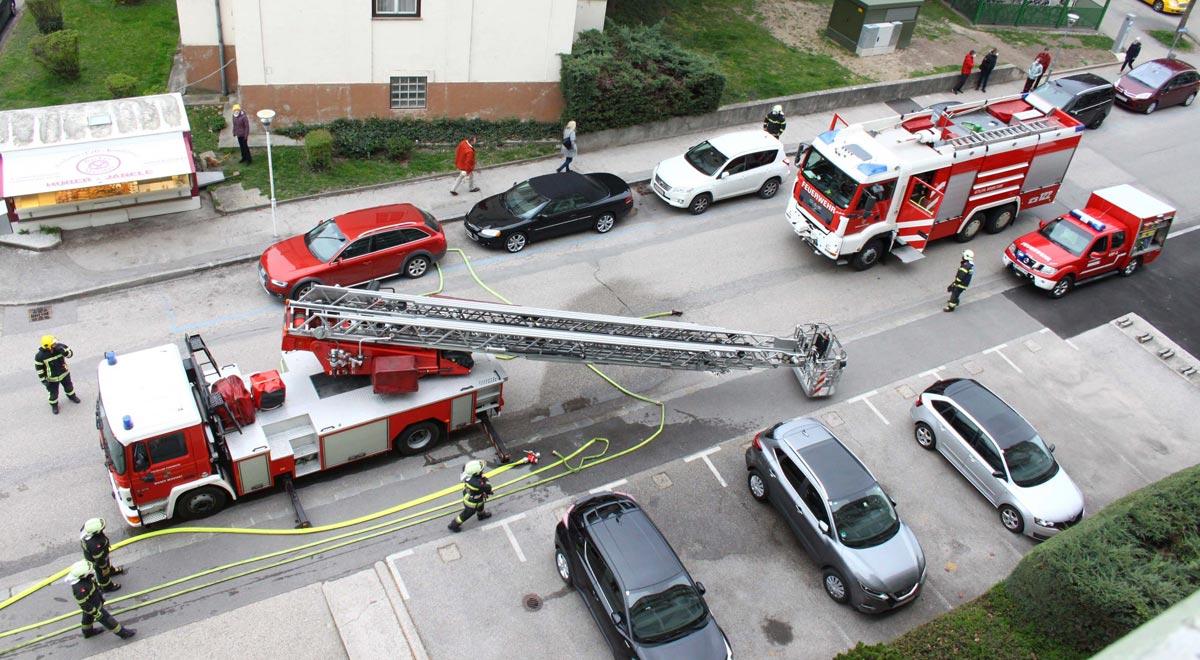 Brand in der Spitalsgasse / Foto: Presseteam d. FF Wr. Neustadt