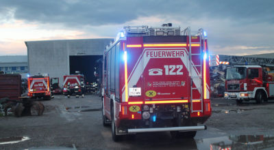 Brand in Gewerbebetrieb / Foto: Presseteam d. FF Wr. Neustadt