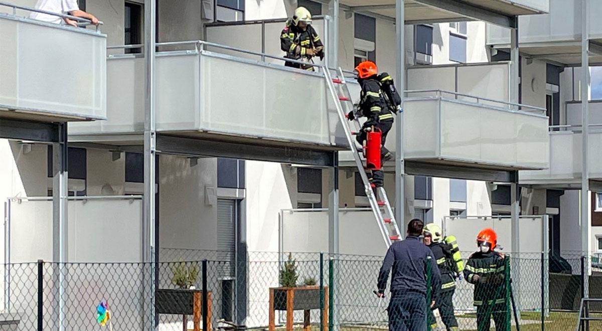 Brand in der Teichgasse / Foto: Presseteam d. FF Wr. Neustadt