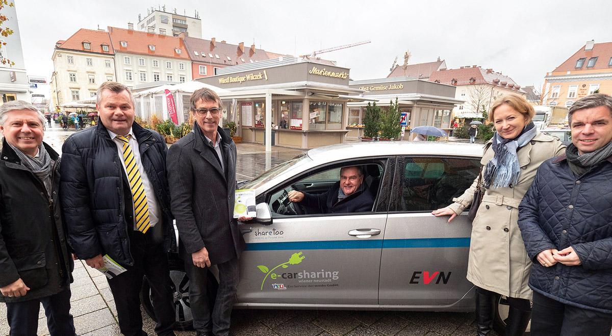 e-Carsharing Wiener Neustadt / Foto: Stadt Wiener Neustadt/Weller