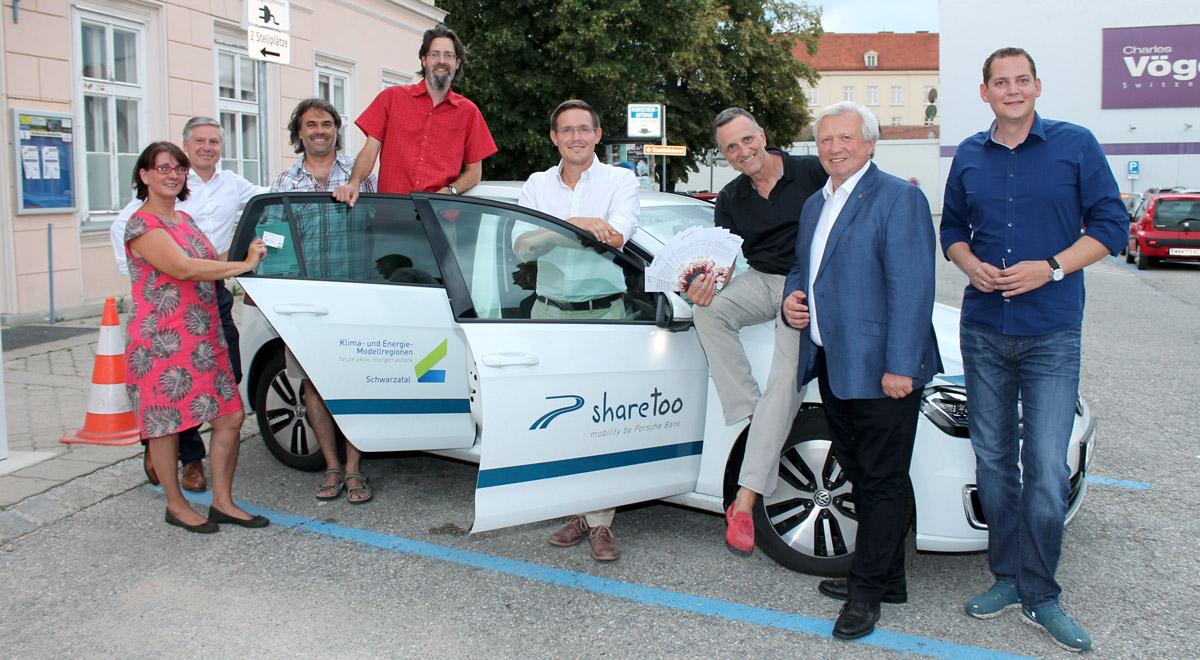 e-Carsharing in Neunkirchen / Foto: Stadtgemeinde Neunkirchen