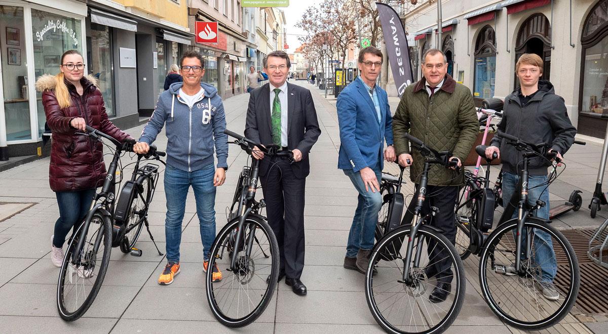 E-Bikes für die Landesausstellung / Foto: Stadt Wiener Neustadt/Weller