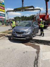 Unfall EKZ Neustadt Nord / Foto: Presseteam d. FF Wr. Neustadt