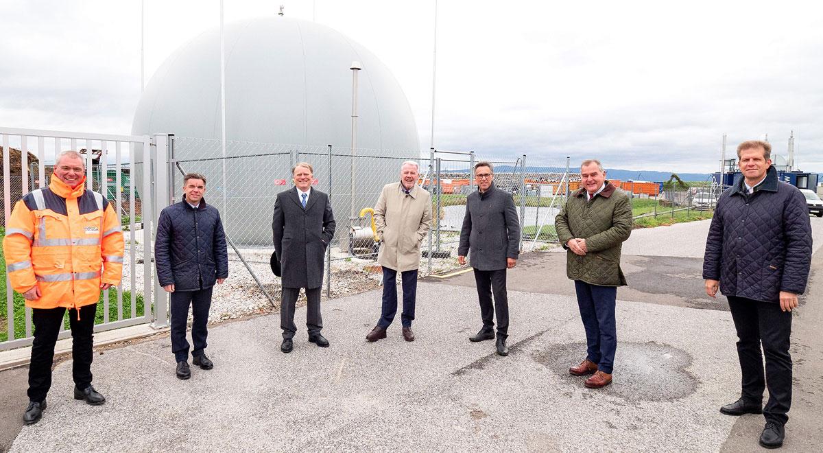 Bauernbund besichtigt Biogasanlage / Foto: Stadt Wiener Neustadt/Weller