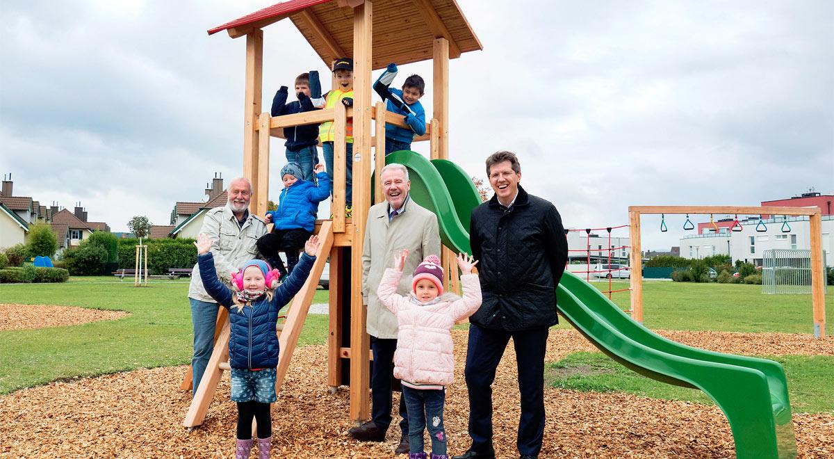 Spielplatz in der Heideansiedlung eröffnet / Foto: Stadt Wiener Neustadt/Weller
