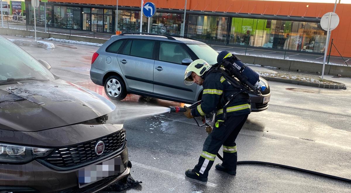 Fahrzeugbrand beim Fischapark / Foto: Presseteam d. FF Wr. Neustadt