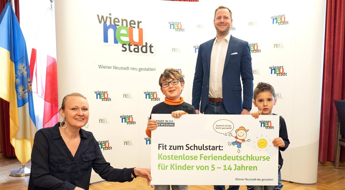Feriendeutschkurse 2021 / Foto: Stadt Wiener Neustadt/Weller