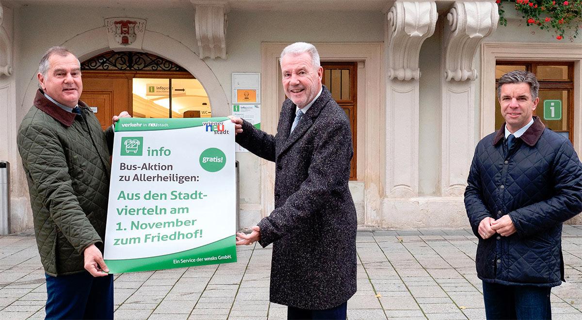 Gratisbusse zu Allerheiligen / Foto: Stadt Wiener Neustadt/Weller