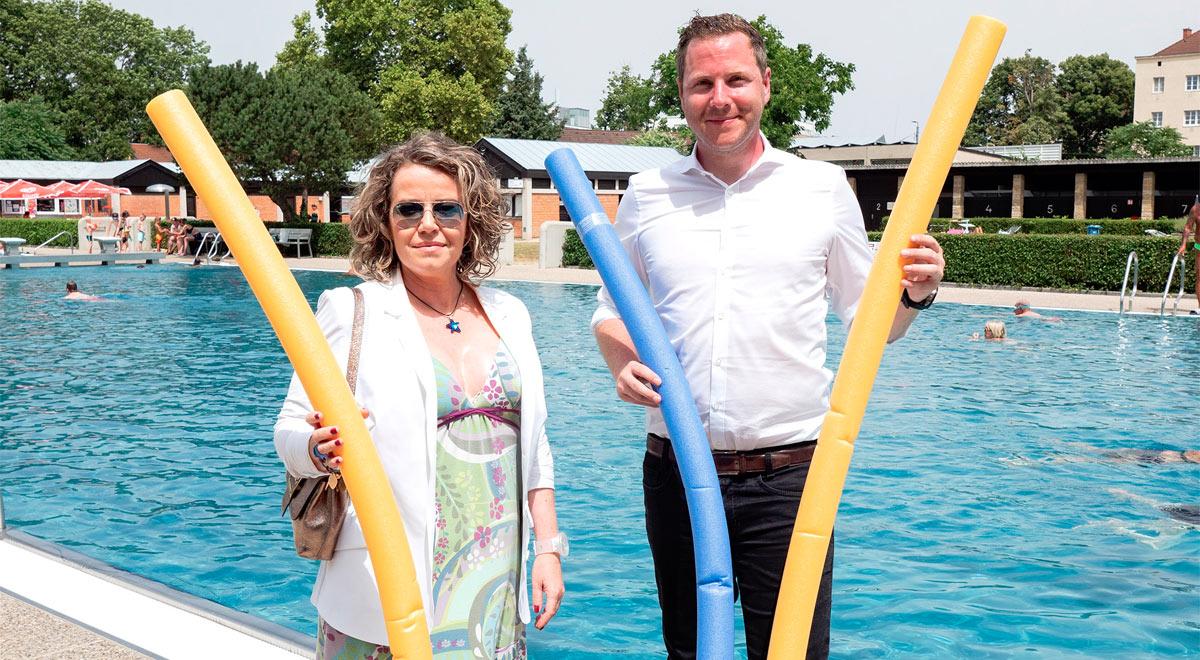 Kostenlose Aquafitness im Akademiebad / Foto: Stadt Wiener Neustadt/Weller