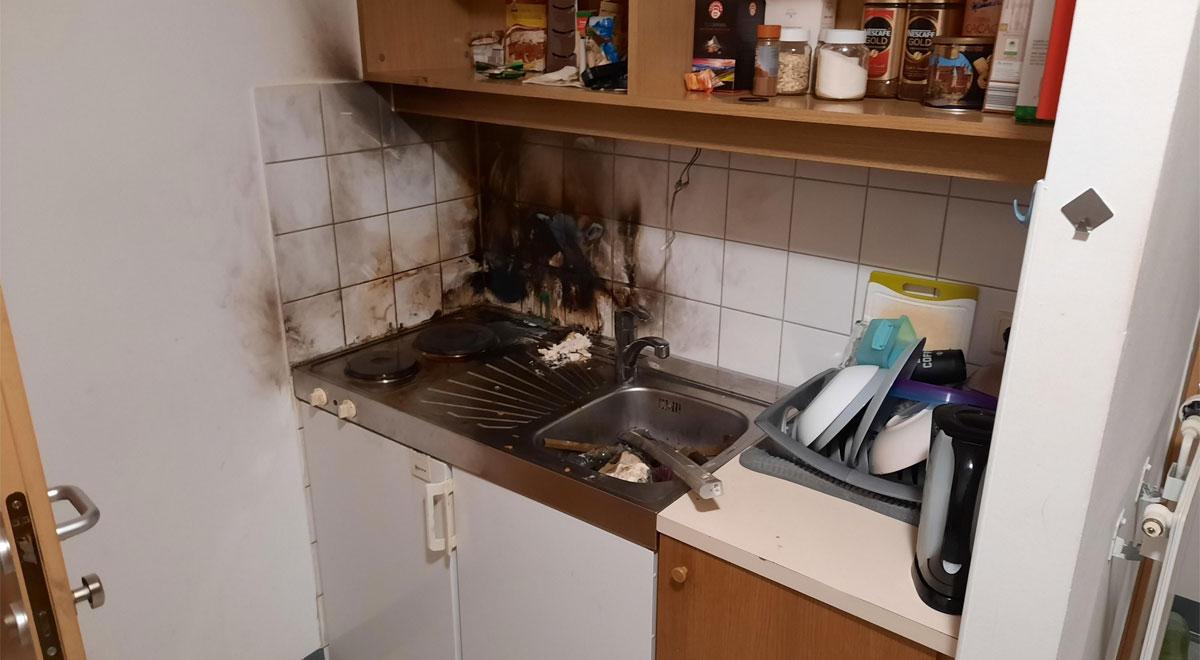 Küchenbrand / Foto: Presseteam d. FF Wr. Neustadt
