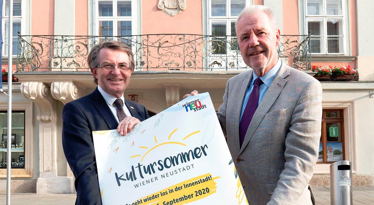 Kultursommer 2020 / Foto: Stadt Wiener Neustadt/Weller