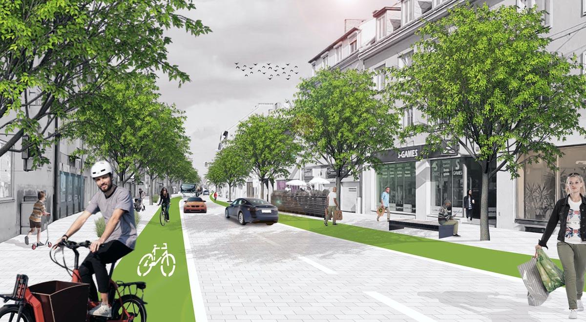 Mobilitätsentwicklungsplan: Grazer Straße / Foto: zVg.