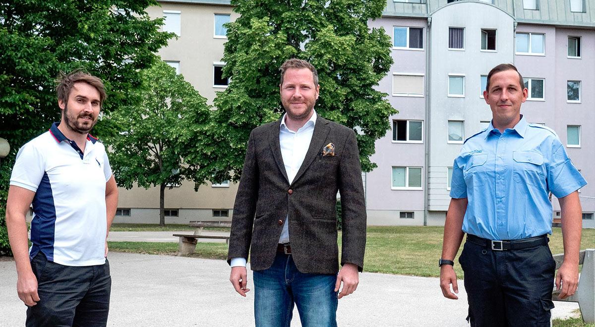 Sicherheitspersonal in den Gemeindebauten / Foto: Stadt Wiener Neustadt/Weller