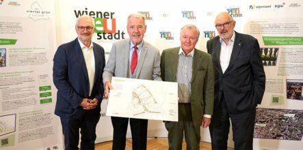 Pressekonferenz in viertel grün / Foto: Stadt Wiener Neustadt/Weller