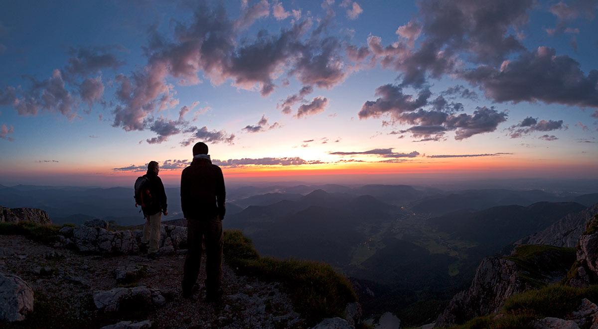 Sonnenaufgang am Schneeberg / Foto: wieneralpen / zwickl