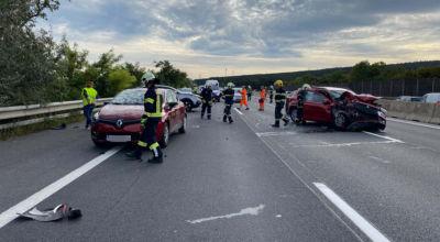 Unfall A2 bei Wöllersdorf / Foto: Presseteam d. FF Wr. Neustadt