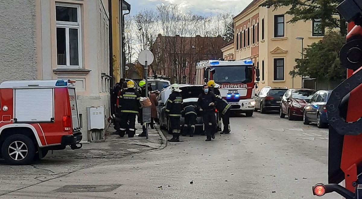 Unfall Wiener Neustadt / Foto: Presseteam d. FF Wr. Neustadt