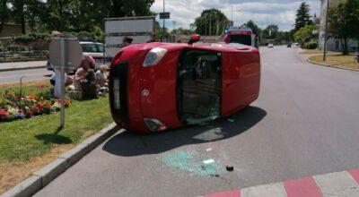 Schwerer Verkehrsunfall beim Wasserturm / Foto: Presseteam d. FF Wr. Neustadt
